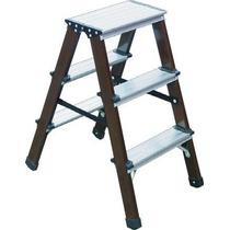 Escalera Doble Lado Reforzada Plegable S.madera Pietro