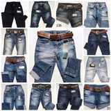 Kit C/ 3 Calças Feminina Jeans Oppnus 100 Modelos A Escolha