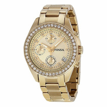 Reloj Fossil Es2683 Dorado Dama Crono Original Envío Gratis*