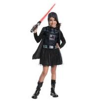 Disfraz Talla 8 A 10 Años Darth Vader Star Wars Niña Vestido