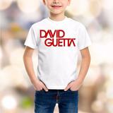 Camiseta / Camisa Infantil David Guetta