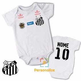 Body Infantil Personalizado Camisa Do Santos Com Nome f03004e10da1c