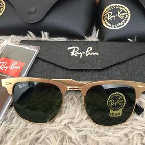Ray Ban Clubmaster Dourado Masculino - Óculos no Mercado Livre Brasil a3c560050f