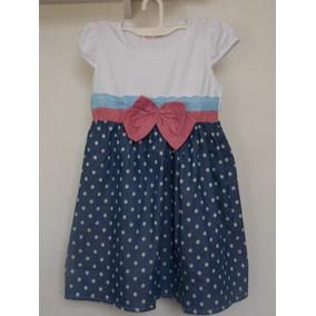 Vestido Infantil Menina Malha C/ Tecido Bolinhas +laço *fofo