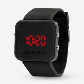 Reloj Led Watch Espejo Negro