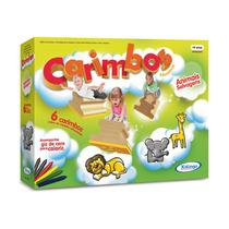 Novo Brinquedo Escolar Carimbo Educativo Animais Selvagens