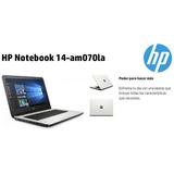 Laptop Hp Intel Celeron 3060, 14 , 500gb, Hdmi, Video Hd