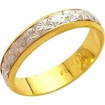 Aliança De Casamento Bodas De Prata 18k - Al49