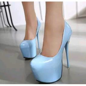d88183257 Sapato Importado Salto Alto Stiletto - Sapatos Azul celeste no ...