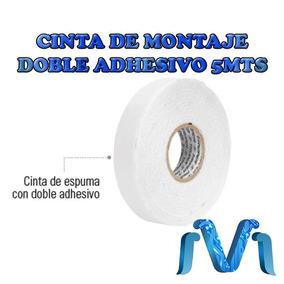 Cinta De Montaje Doble Adhesivo 5 Mts Blanca