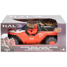 Halo Vehículo Equipo Warthog Con Spartan Mark 4, Color Roj