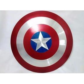 Escudo Do Capitão America Alça De Couro (pronta Entrega)