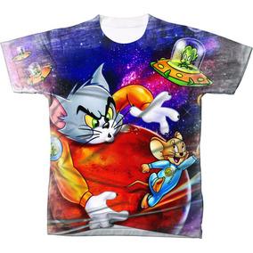 Camiseta - Camisa Desenho Animado Tom E Jerry Estampada 4