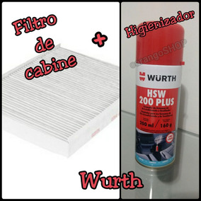 Kit Higienização Ar-condicionado Fiat Punto Filtro+hsw Wurth