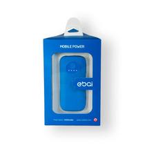 Ebai Q1 Power Bank Batería Respaldo Superpoder 5600 Mah Azul