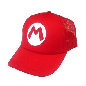 Gorra Trucker Mario Bros Adulto Con Envío