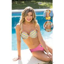 Bikini Con Aro Estampada. 3 Piezas Natubel Verano 2017