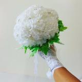 Buquê Noiva Flores Branca Strass Perolas