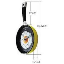 Relógio De Parede 3d Cozinha Formato Frigideira Ovo Frito 35