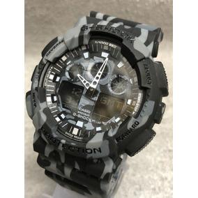 Relógio Gshock Ga100 Camuflado À Prova D