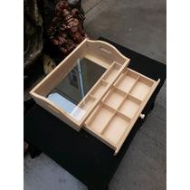 Caja De Te Porta Bandeja Con Cajón Y Vidrio - Fibrofacil