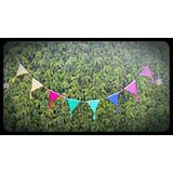 Banderines Guirnalda Tejido Crochet Decoración