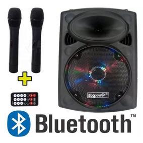 Top Ecopower Ep 1290 Caixa De Som Amplificada 10 Bluetooth