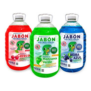 Kit Jabón Para Manos Líquido Cereza Chicle Mora Azul 5 L C/u