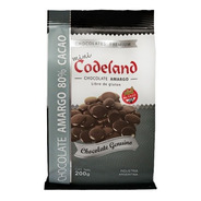 Chocolate  Amargo 80% Mini Codeland X 200 Grs