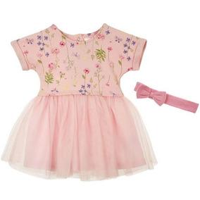 Ropa Niña Bebe Vestido Floral Mon Caramel Tutu Nvo No Carter