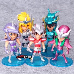 Cavaleiros Do Zodíaco Colecionável Kit 5 Miniaturas Bonecos