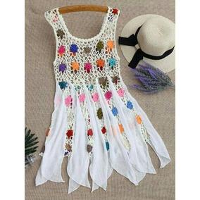 Vestidos Túnicas De Playa Con Tejido Crochet