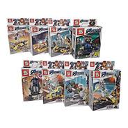 Muñecos Super Héroes Arma X 8 Personajes Avengers Liga Justi