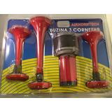 Bocina P/ Auto Camion 12v 3 Cornetas C/comp. Super Potentes/