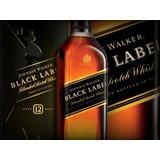 Whisky Johnnie Walker Black Label C/ Caja 1litro Banfield