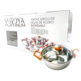 Juego De Ollas 10 Pzas Sujoya Platinum Tt