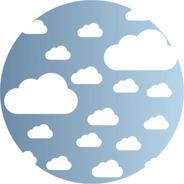 18 Nuvens Adesivo Parede Quarto Nuvens Infantil Bebe Papel