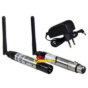 Antena Dmx Wireless 2.4 Ghz Sem Fio Iluminação Dj + Fonte