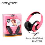 Audifono Creative Hq-1600 Pink P/ipad/ipod/zen/ziio
