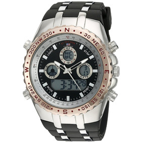 Reloj U.s. Polo Assn. Us9373 Ana-digi Bisel Rose Gold