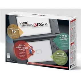 New 3ds Xl Preto + Fonte Original Nintendo Novo Console