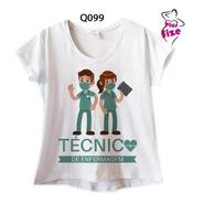 Blusa Feminina Plus Size Profissão Técnico Enfermagem Q099