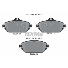 Pastilha Dianteira Mercedes Original C180 W205 2014/