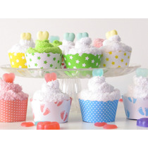 Souvenir Fiestas. Cupcakes Toalla Y Jabon X 10 Uni.