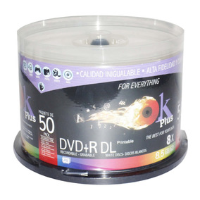 Dvd Doble Capa O Dual Layer Okey Plus 8.5 Gb Paq. 50 Unid
