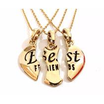 Colares Best Friends Melhores Bff Folheado A Ouro 18k
