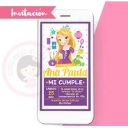 Invitación Digital Princesa Disney Rapunzel