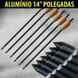 06 Setas Flechas Alumínio S-14 Besta Balestras 150 A 200 Lbs