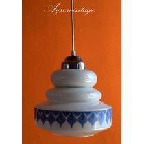Antigua Lampara De Opalina Retro Vintage.(envios).