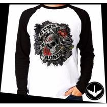 Manga Longa Guns N Roses Balas Banda Rock Blusa Camisa 04